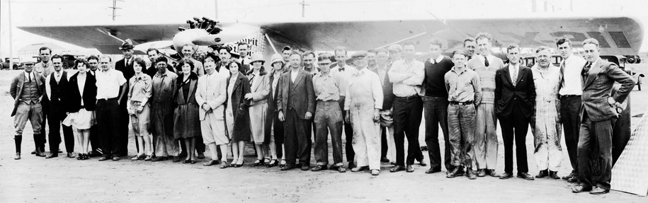 The men and women who built, designed, funded, and flew the Spirit of St. Louis in San Diego, CA 1927