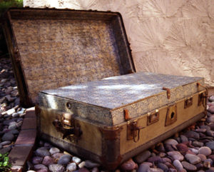 The Rose chest that was discovered in 1999 in Sedona, Arizona.